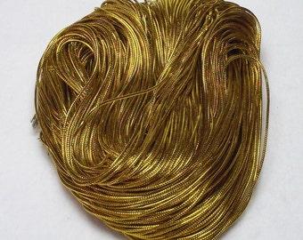 10 Yards (30 Feet) Gold Nylon 1mm Beading Cord