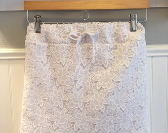 Girls Unique Corded Lace Overlay Skirt