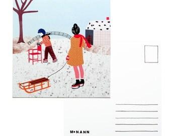 Abbildung Postkarte - Winter
