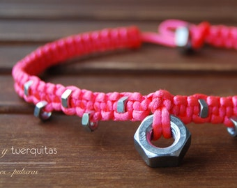 collar nuts and tuerquitas pink fluor