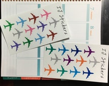 Airplane Travel Planner Stickers Erin Condren (12 stickers)