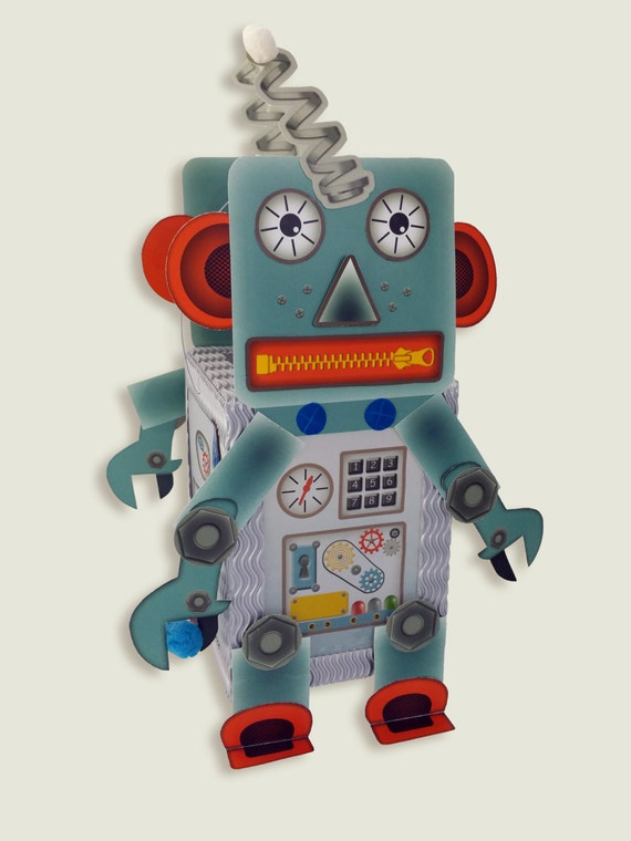 Lantern Paper Craft Kit Set • Robot Android • for children's birthdays Halloween decoration • make your own lantern cutting out required