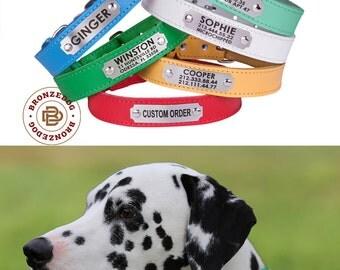 Personalized Dog Collar, Dog Collar, Pet Collar, Custom Dog Collar, Leather dog collar, Dog ID Collar, Small dog collar, Girl dog Collar