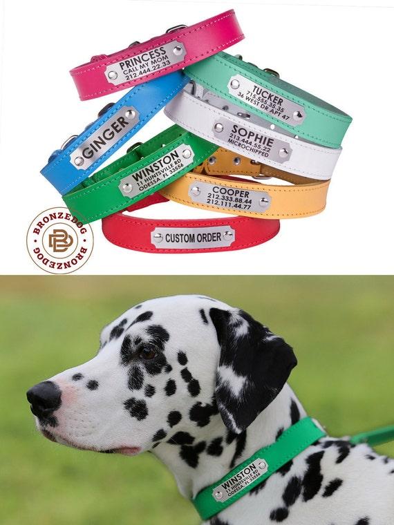 Dog Collar, Leather Dog Collar, Custom Leather Dog Collar, Personalized Leather Dog Collar
