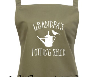 Personalised Potting Shed Apron with pocket - add your name - 16 Colours - Garden apron, gardening gift, potting shed gift - 1010