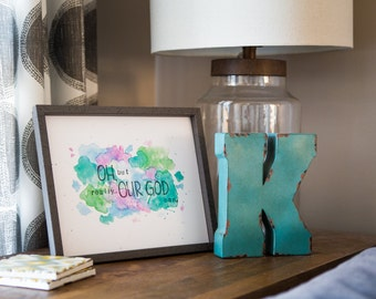 Oh, But Really...Our God Can Watercolor Print