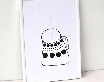 Kitchen print, Coffee Poster, Nordic Art, Modern Urban, Minimal Poster,  Scandinavian Modern, Modern wall art, Home Decor,House warming gift