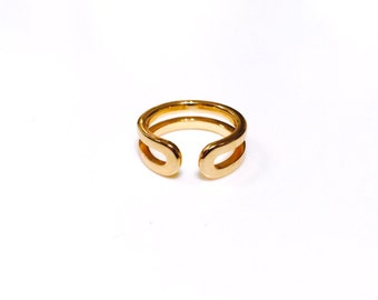 14K Gold Adjustable Knuckle Ring, gold midi ring, gold pinky ring, solid gold ring, 14karat knuckle ring, stackable gold ring