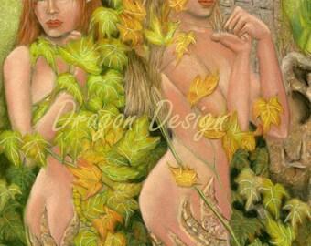 Dryad Sisters, Alana and Ariana Woodland Fae