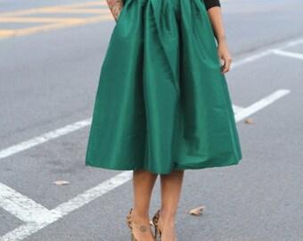Envy - vert Midi skirt Ready to Ship - on sale!