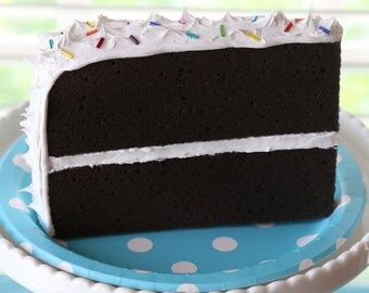 Chocolate Postcard Cake with White Frosting
