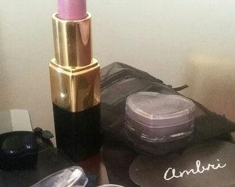 Semi Matte Lipstick in Purple Rain & Purple Shimmer Eyeshadow Combo Set