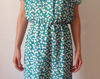 80s dress french vintage