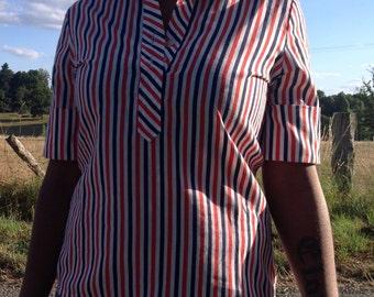 patriotic vintage 4th of july blouse