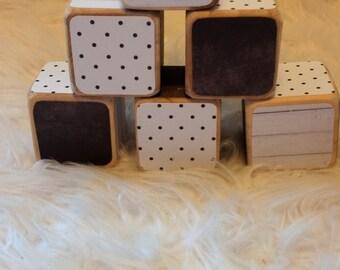 Timber blocks - set of 6