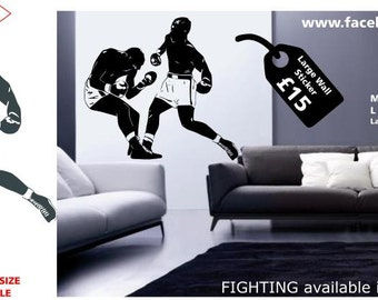 Boxing Fighting Wall Sticker