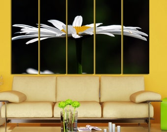 Canvas Art  Camomile Print Large Canvas Print Nature Stretched Canvas Interior Décor Flower Wall Art Gift for Home Decoration Multipanel