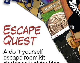 Kids escape room party kit