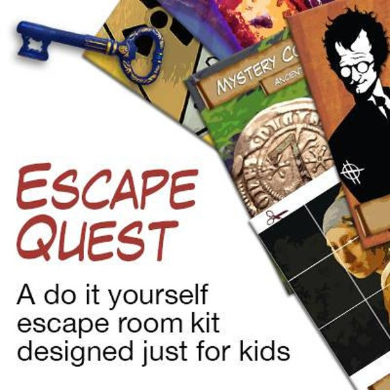 Kids escape room party kit for Escape room party