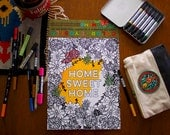 Color it Yoself-Home Sweet Home-11 x 14 print