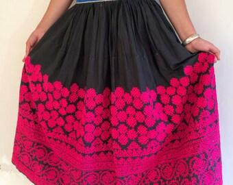 Vintage Rabari Long Embroidered Skirt