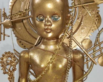 Golden Girl, doll, OOAK,