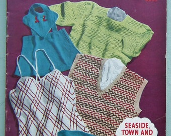 Dorothy's Book of Holiday Knitwear Knitting Patterns Book 1940s 1950s original patterns for women men children 40s 50s swimwear sun suit etc