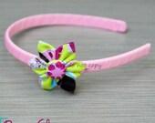 Anna - Folded Fabric Flower Headband