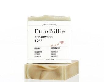 Cedarwood Bar Soap Organic Ingredients Vegan 5 oz
