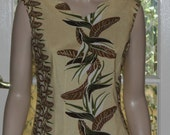 REDUCED PRICE. 1950's reproduction Classic Summer Blouse. Alfred Shaheen fabric