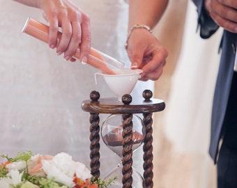 Heirloom Wedding Hourglass - The Lakeside Wedding Oak Unity Sand Ceremony Hourglass