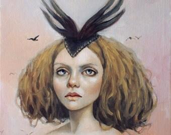 Bird Queen. Signed Print of an Original Oil Painting