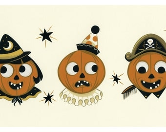 A Trio of Trouble - Merry Hallowe'en Series giclée print