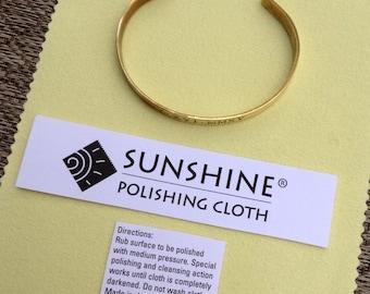 The Sunshine Cleaning Cloth for Jewelry Polishing . Tarnish Remover . Tatum Bradley & Company