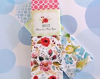 2017 Calendar, Small Desk Calendar, Bookmark