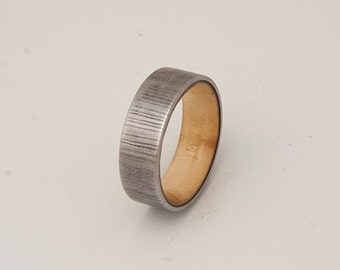 damascus steel wood ring damascus steel wedding band tell wood ring