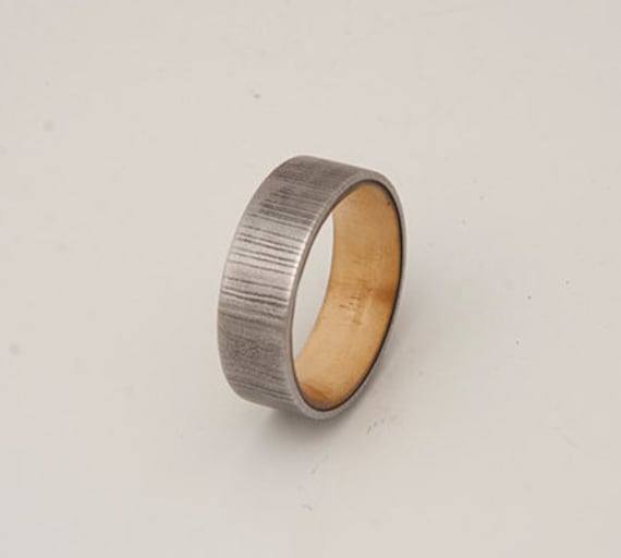 damascus steel wood ring damascus steel wedding band tell wood
