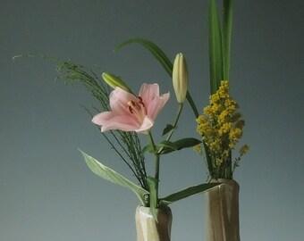 Handmade Ikebana vase pair