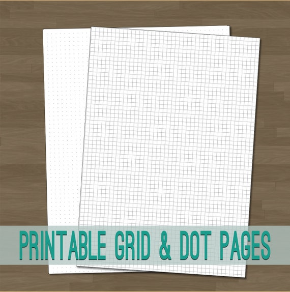 Adorable image within bullet journal dot grid printable