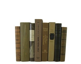 Brown  Decorative Books , Brown Vintage Books , Home Decor , Old Books , Vintage Photo Props , Table Setting , Wedding Decor