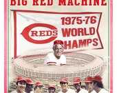 Cincinnati Reds - Big Red Machine Print - Cincinnati Reds poster - Boys room Man cave decor- Fathers Day gift for Dad