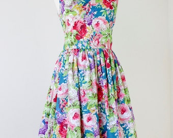 Floral  bridesmaid dress, floral bridesmaids dress, vintage inspired dress