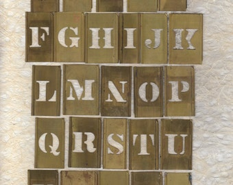 "1.25"" Brass Alphabet Stencil Pick your Letter ready to alter or collage"