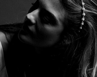 Pearl Flower Rhinestone Headband