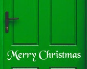 Merry Christmas Decal, Front Door Decal, Merry Christmas Window Decal, Christmas Window Decal, Entry Way Decal, Welcome Decal, Vinyl Decal