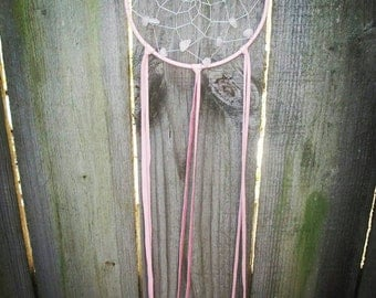 Dreamcatcher,  dream catcher,  nursery decor,  nursery dreamcatchers, pink, wall hanging,  boho,  leather, boho dreamcatcher,  gypsy, chic