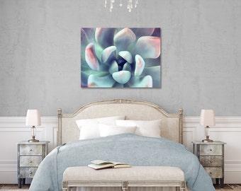 Succulent Gallery Wrap Canvas, Succulent Canvas, Fine Art Photography, Nature Photography, Botanical Art, Succulent Wall Decor, Green Decor
