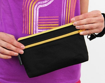 "Large Wristlet, 5"" x 8"" x 1"" Stadium Wristlet, Gameday Clutch"
