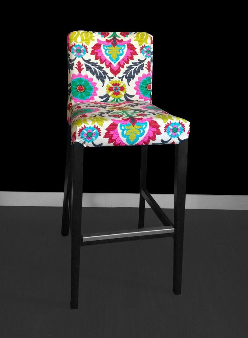 Pair Ikea Henriksdal Bar Stool Slipcovers Chair Covers Ikea