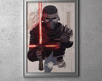 Kylo Ren - STAR WARS - Episode VII - The Force Awakens - Original Art Poster